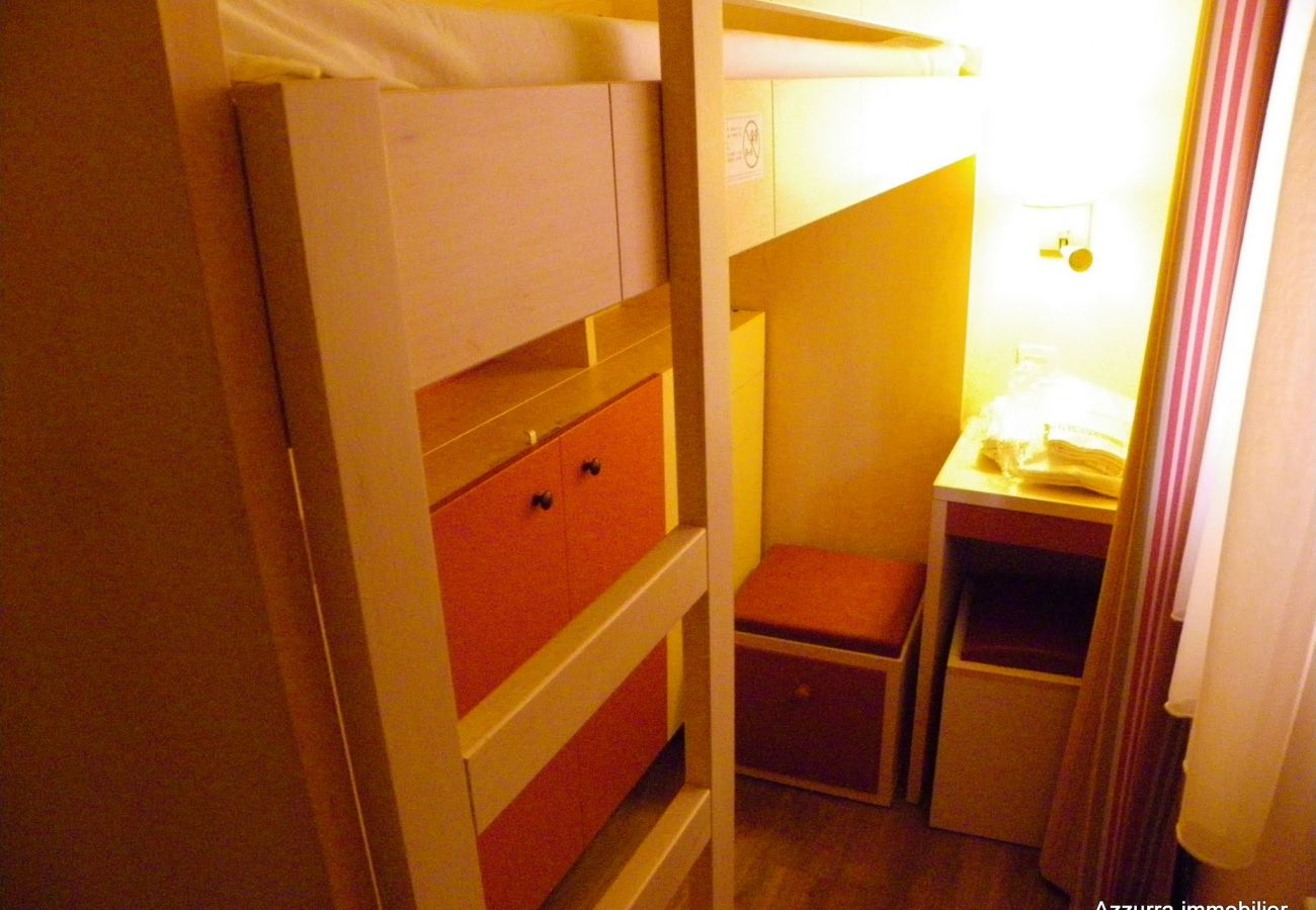 La cabine du studio de l'appartement de Cap Esterel à Agay