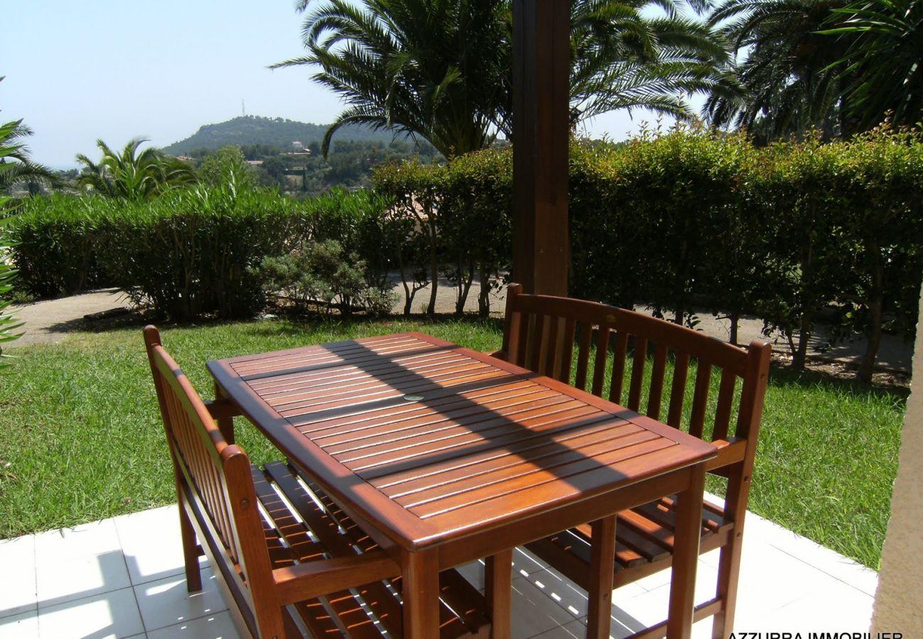 Le jardin de l'appartement de Cap Esterel à Agay