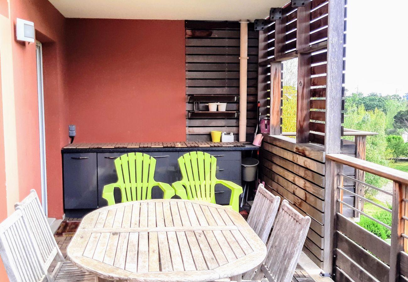 La terrasse de l'appartement de la résidence Rive Nature à Agay
