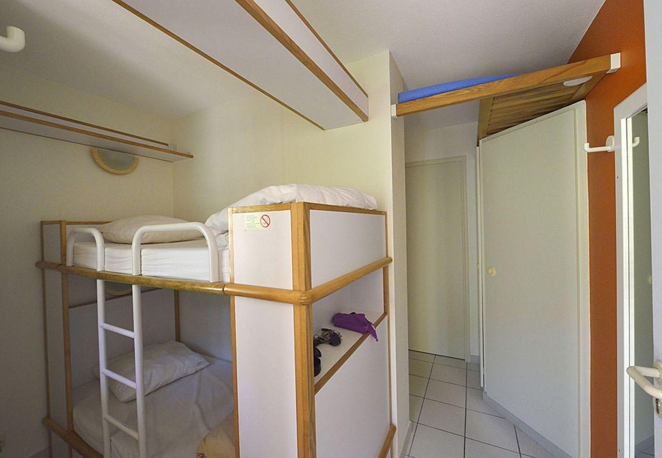 L'entrée et la cabine du studio de Cap Esterel à Agay