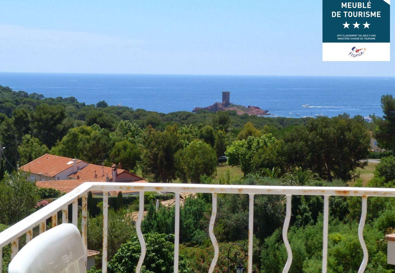 Appartement à Agay - Cap Esterel hameau : joli 2 pièces mer  lave linge M4- 115la