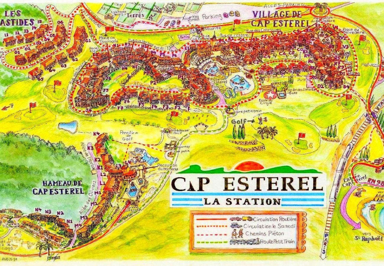 Appartement à Agay - Cap Esterel village, beau 2 pièces, vue mer - H4 -480la